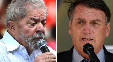 Luiz Inácio Lula da Silva e Jair Bolsonaro