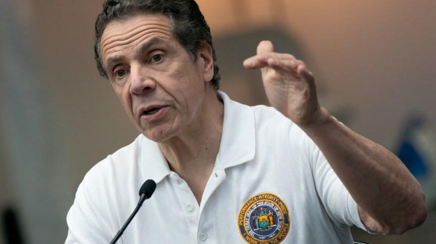 Governador de Nova York, Andrew Cuomo, durante entrevista coletiva