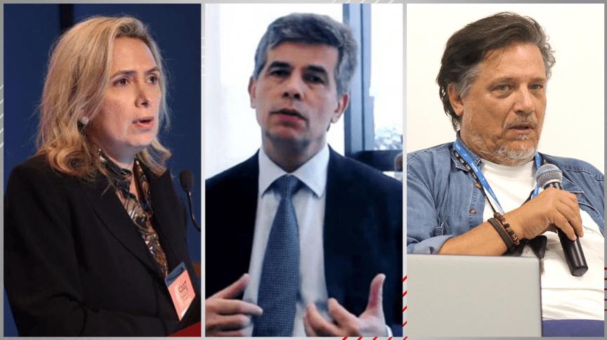 Da direita para a esquerda: Ludmilla Hajjar, Nelson Teich e Paolo Zanotto - todos nomes que são apostas para o próximo Ministro da Saúde do governo de Jair Bolsonaro.