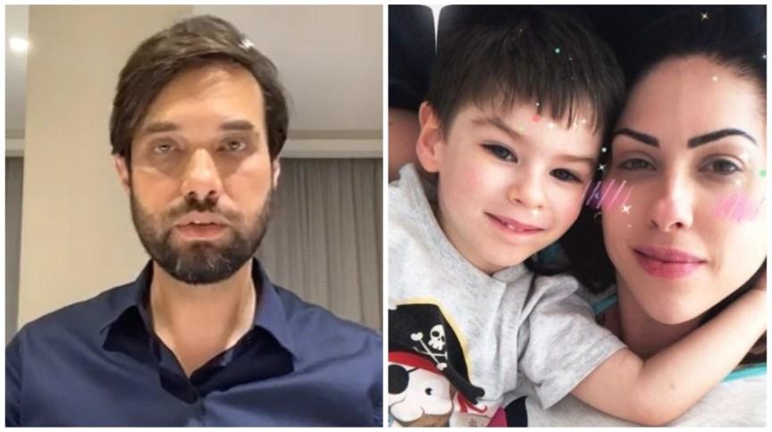 À esquerda o vereador Dr. Jairinho, à direita Monique Medeiros com o filho Henry Borel