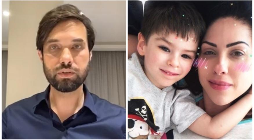 À esquerda Dr. Jairinho, à direita Monique Medeiros com o filho Henry Borel