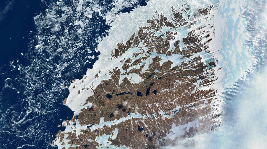 Derretimento de gelo na Antártica