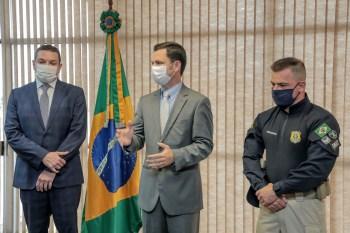 Paulo Maiurino (PF) e Silvinei Vasques (PRF) tomaram posse em cerimônia restrita em Brasília