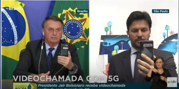 Videochamada entre o presidente e o ministro das Comunicações foi a primeira a usar a tecnologia 5G standalone na América Latina
