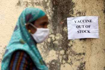 Apenas neste domingo (18), o país registrou 261.500 novas infecções – maior número diário desde o início da pandemia; entregas para Covax seguem indefinidas