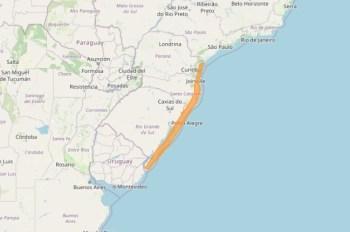 Aviso é válido para cidades litorâneas nos três estados da região; Defesa Civil de Santa Catarina fala que risco de desastre é de baixo a moderado