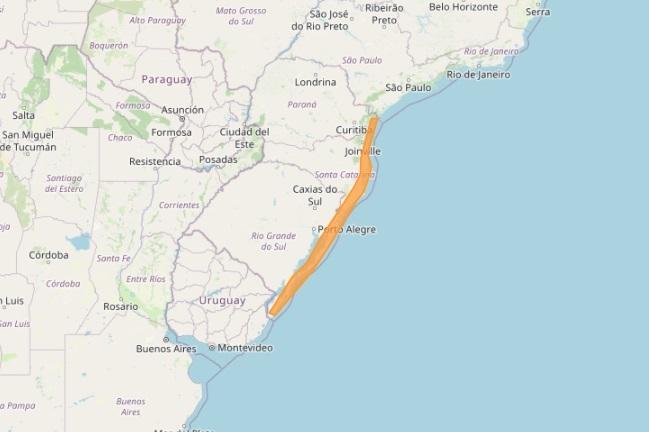 Inmet alerta para ventos costeiros perigosos que podem atingir o litoral sul do Brasil