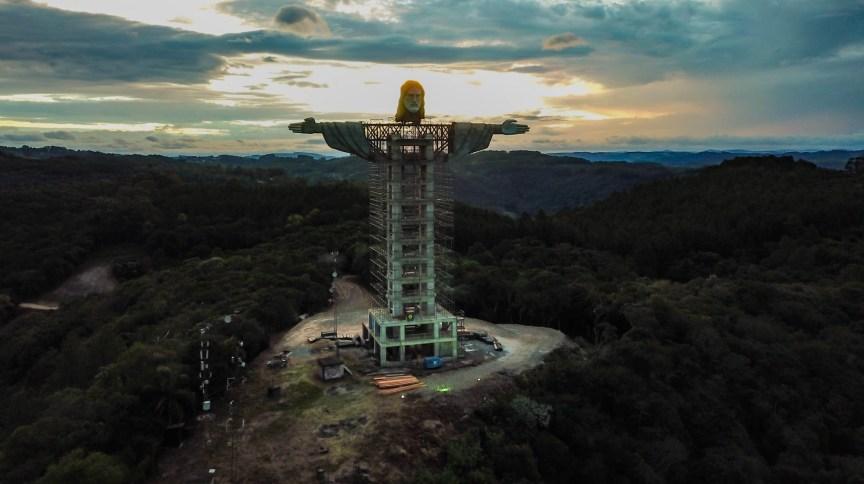 Estátua de Cristo em Encantado, no Rio Grande do Sul, será a 3ª maior do mundo