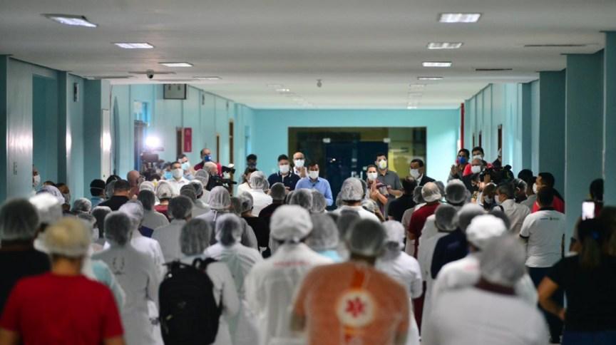 Coronavírus: governador Wilson Lima (PSC), inaugura o hospital de campanha em Manaus