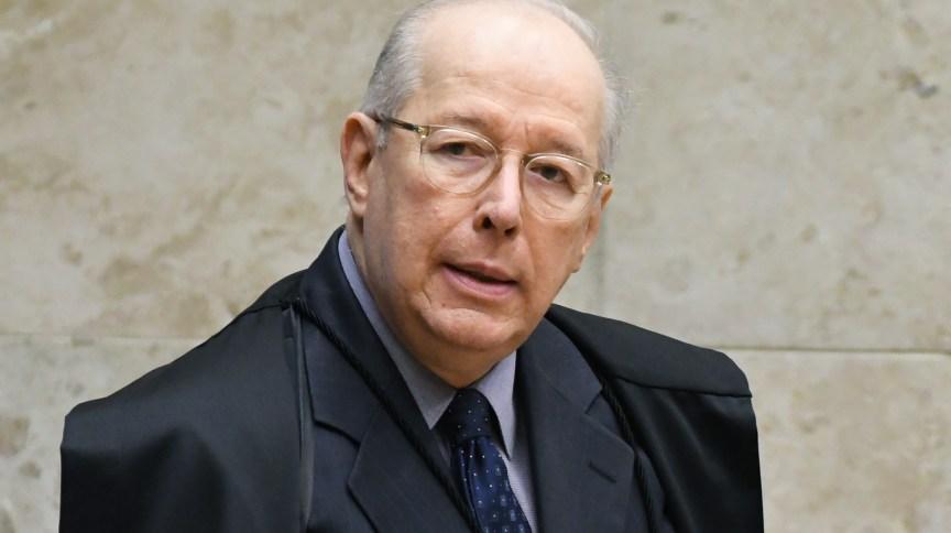 O ministro Celso de Mello durante sessão do STF