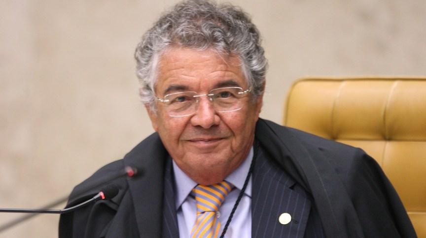 Ministro Marco Aurélio durante sessão de encerramento do ano forense no STF, em dezembro de 2020: