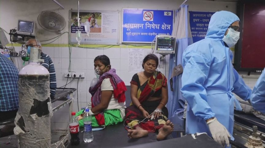 Índia enfrenta aumento expressivo do número de casos e mortes por Covid-19