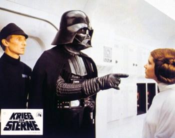 Cópia do documento entregue ao ator David Prowse no set de filmagem de 'Star Wars: Episódio V - O Império Contra-Ataca'será leiloada em maio