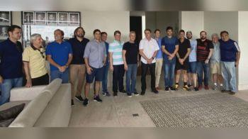 A reunião ocorreu na casa do ministro das Comunicações Fábio Faria