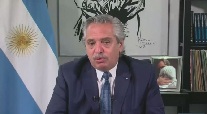 O presidente da Argentina, Alberto Fernández
