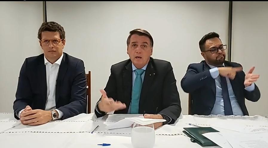 Ministro Ricardo Salles e Jair Bolsonaro