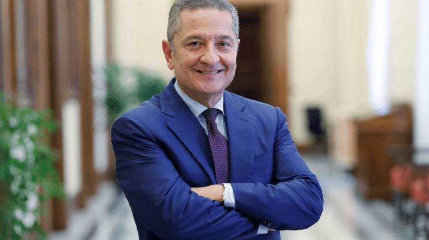 O vice-presidente sênior do Banco da Itália, Fabio Panetta, antes de sua nomeação para o comitê executivo do Banco Central Europeu