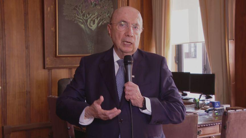 Secretário de Fazenda de SP, Henrique Meirelles