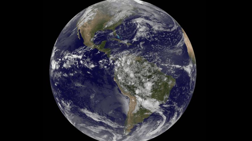 Planeta Terra em imagem fornecida pela Nasa
