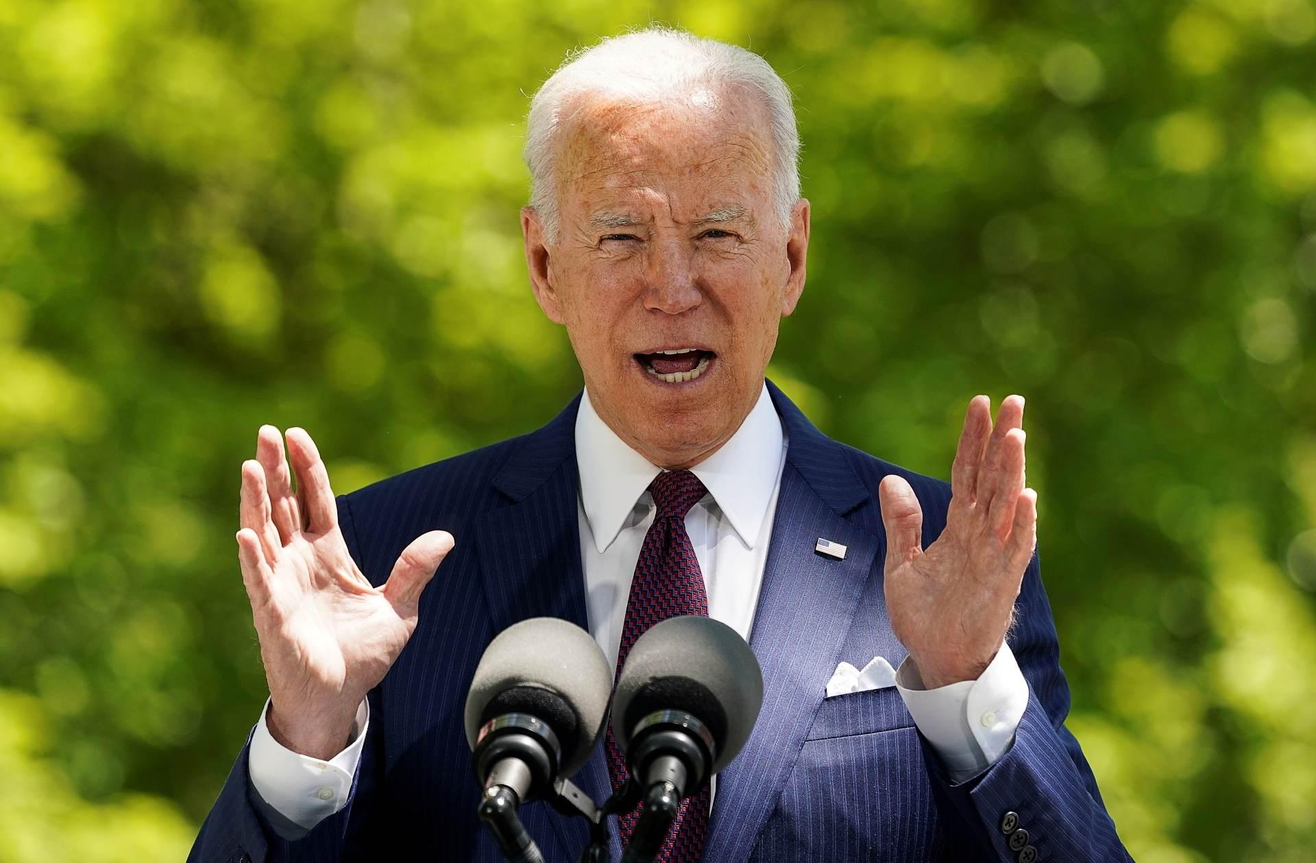 Presidente dos EUA, Joe Biden, em discurso na Casa Branca