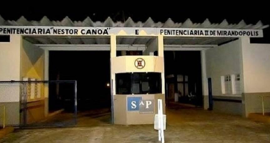 Portão da penitenciária 1 e 2 de Mirandópolis, no estado de São Paulo