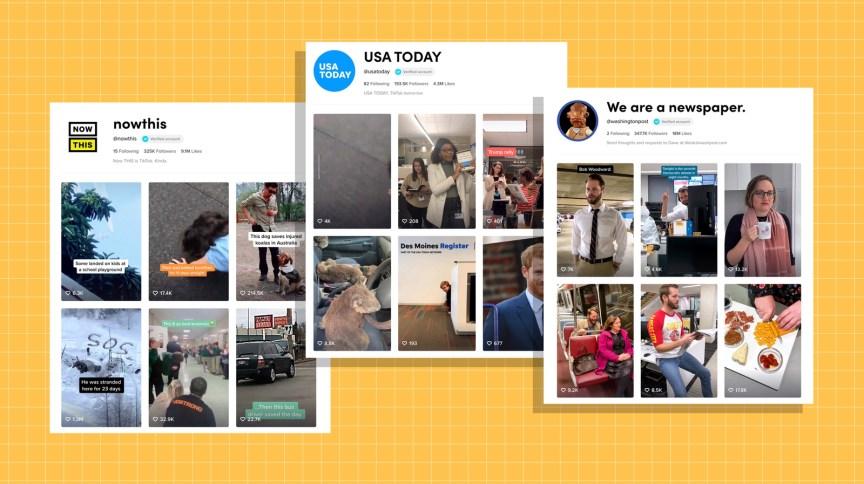 Veículos de imprensa como NowThis, USA Today e Washington Post estão usando o TikTok
