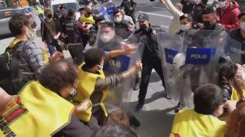 Vários países registraram protestos e confrontos nas ruas neste primeiro de maio de 2021