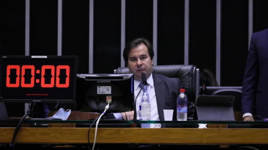 Rodrigo Maia, presidente da Câmara dos Deputados, comanda a ordem do dia de votação virtual