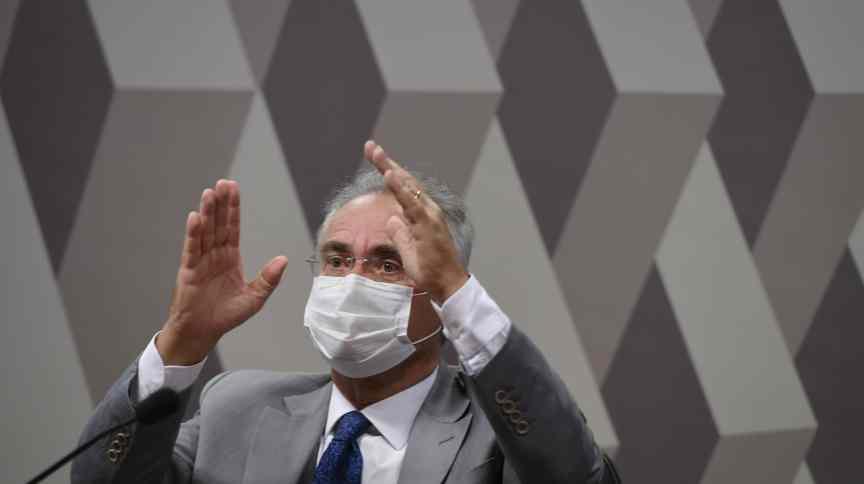 Em pronunciamento à mesa, relator da CPI da Pandemia, senador Renan Calheiros (MDB-AL)