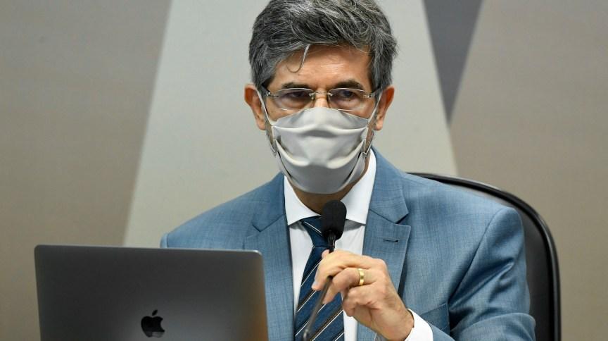 Ex-ministro da Saúde Nelson Teich em oitiva na CPI da Pandemia