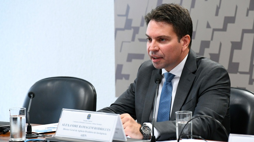 Alexandre Ramagem Rodrigues, quando ocupava o cargo de diretor-geral da Agência Brasileira de Inteligência (Abin)