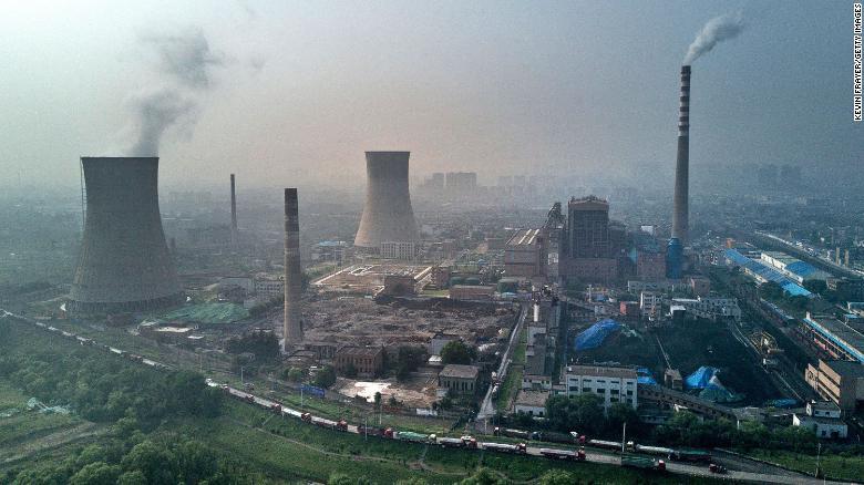 Usina termelétrica movida a carvão estatal é vista em Huainan, China