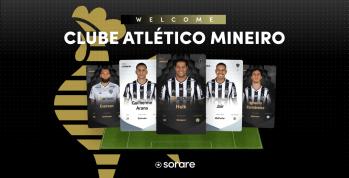Equipe mineira é a primeira do Brasil a entrar para o catálogo da plataforma Sorare, que licencia cartas em Ethereum
