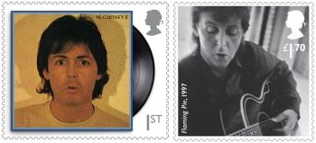 McCartney é o único astro da música além de David Bowie e Elton John a figurar em uma emissão de selos especiais