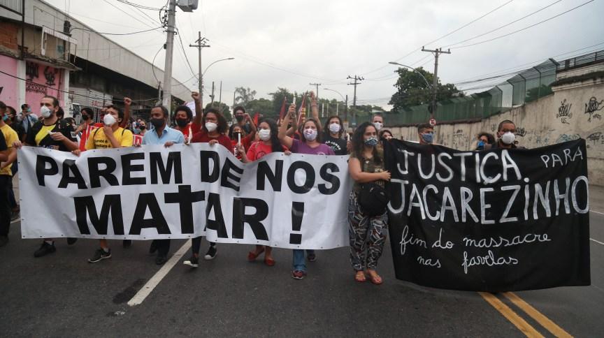 Protesto contra a operação da Polícia Civil do RJ que deixou 28 mortos no morro do Jacarezinho