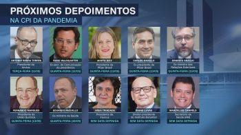 Na segunda semana de audiências, a CPI vai escutar o ex-Secom Fabio Wajngarten e o ex-ministro das Relações Exteriores Ernesto Araújo