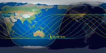 Previsão do Centro de Reentrada Orbital e Estudos de Detritos é que restos do foguete caiam em algum lugar perto da Ilha Norte da Nova Zelândia