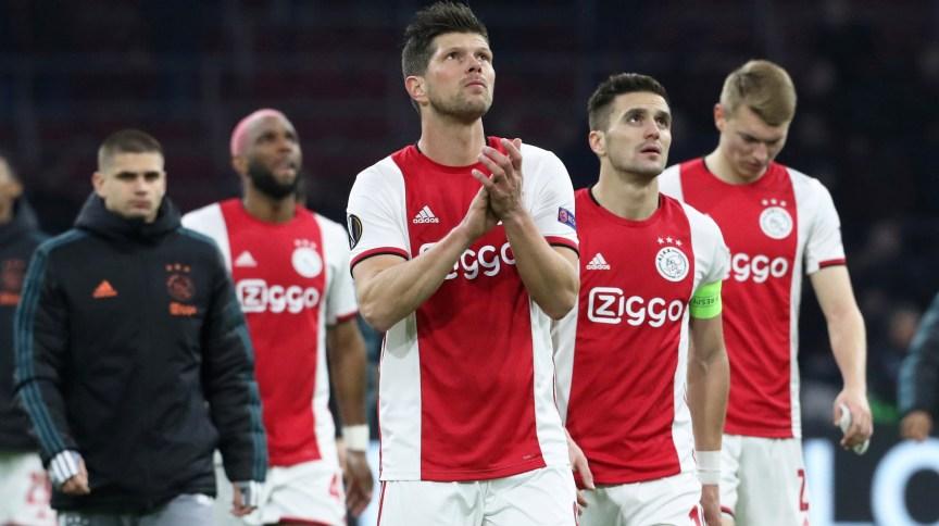 Jogadores do Ajax durante partida
