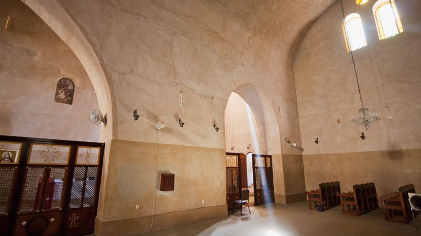 Interior do Monastério de São Macário, no Egito