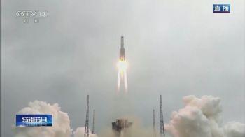 O foguete Longa Marcha 5B entrou pela atmosfera e caiu no oceano Índico, perto das Ilhas Maldivas, sem provocar danos