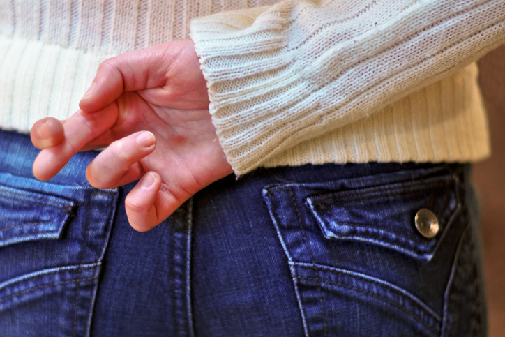 Sorte / dedos cruzados
