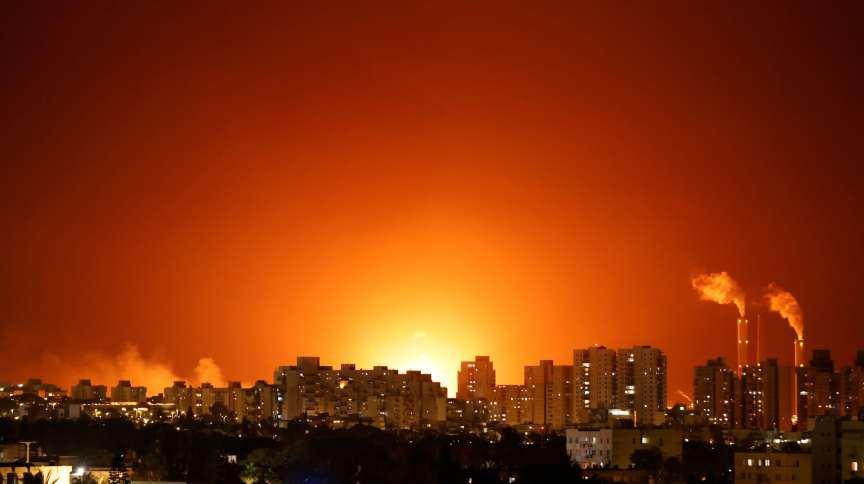 Conflito entre israelenses e palestinos perto de Ashkelon, Israel 11/5/2021