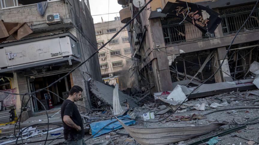 Região de Gaza após ataque aéreo de Israel, em 12/05/2021