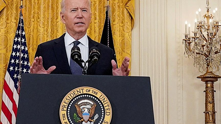 Presidente dos EUA, Joe Biden, fala com a imprensa na Casa Branca