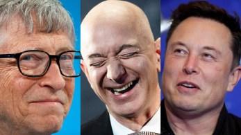 De Elon Musk, da Tesla, a Bill Gates, fundador do Windows: qual é a fortuna de cada um dos cinco homens mais ricos do mundo?