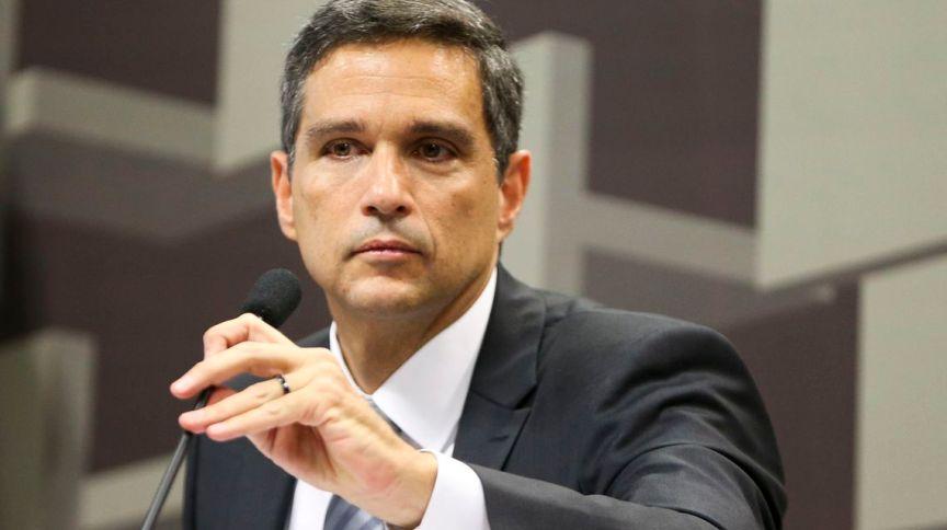 Roberto Campos Neto em sua posse como presidente do Banco Central: em evento, Campos Neto falou sobre a importância do agronegócio para a economia brasileira
