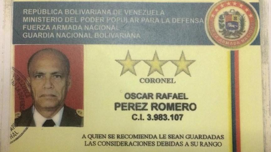Documento identifica Oscar Romero como coronel da Guarda Nacional Bolivariana