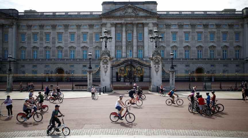 Palácio de Buckingham em Londres, 26 de abril de 2020.