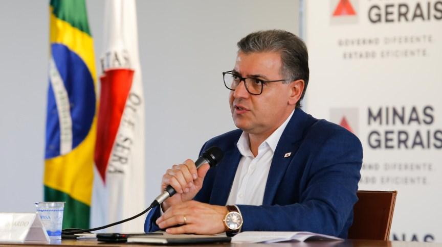 Secretário de Estado da Saúde (SES-MG), Carlos Eduardo Amaral, durante coletiva sobre a situação da pandemia no estado de Minas Gerais.