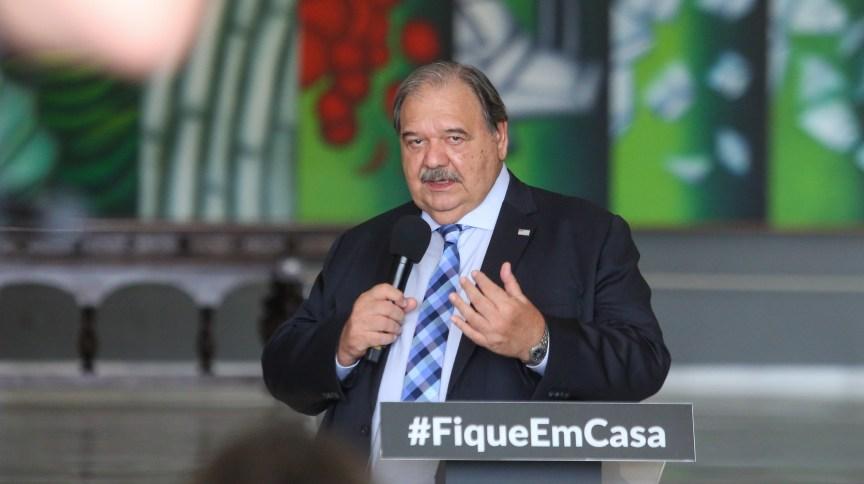 Secretário Estadual de Saúde, José Henrique Germann Ferreira, durante coletiva de imprensa sobre o combate ao coronavírus. São Paulo, 24 de abril de 2020.